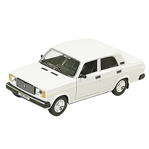 AUTOPROM 1:24 VAZ 2107 USSR LADA 1500SL RIVA NOVA Russian Soviet Diecast Metal Model Car White Color