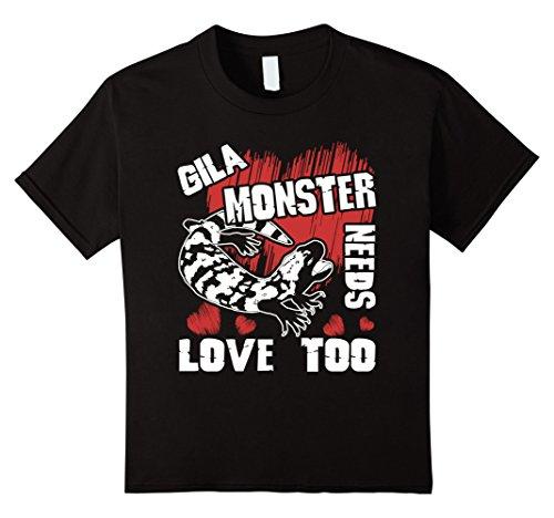 Gila Girl (Kids Gila Monster Shirt - Gila Monster Love T Shirts 4 Black)