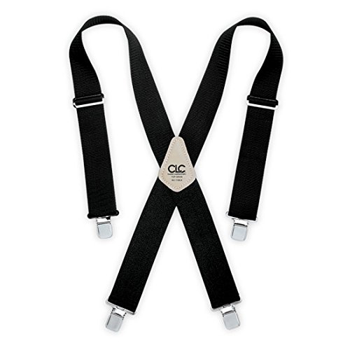Custom LeatherCraft 110BLK Heavy Duty Work Suspenders, Black