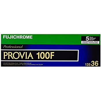 Fujifilm 16326030 Fujichrome Provia 35mm 100F Color Slide Film ISO 100 - 5 Rolls of 36 Exposures (Green/White/Purple)