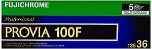 Fujifilm 16326030 Fujichrome Provia 35mm 100F Color Slide Film ISO 100 - 5 Rolls of 36 Exposures (Green/White/Purple)