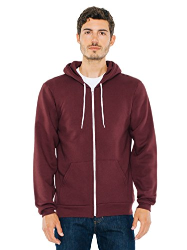 (American Apparel  Unisex Flex Fleece Zip Hoodie, Truffle, Small)