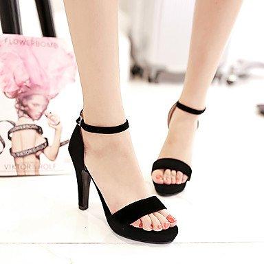 LvYuan Mujer-Tacón Robusto-Otro Zapatos del club-Sandalias-Informal Fiesta y Noche-Semicuero-Negro Black