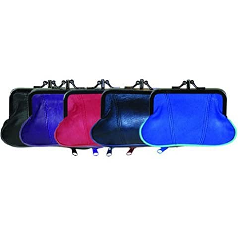 100% Leather Change Purse with Clasp BR