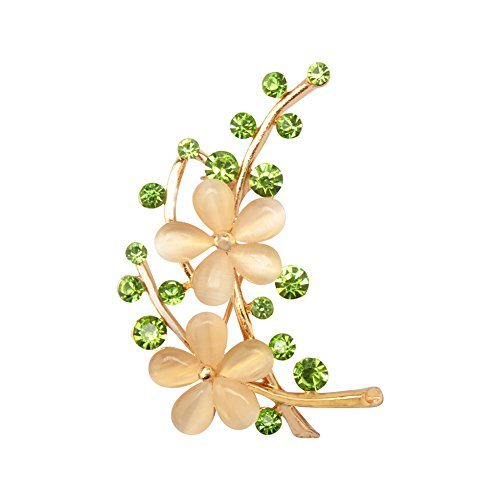 [Per Flower Brooch Pins Unique Style with Exquisite Detail 4.5x2.3cm(GoldYellow)] (Unique Costume Ideas For Teenage Girls)