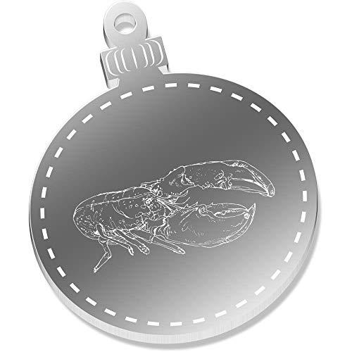 (Azeeda 2 x 52mm 'Beautiful Lobster' Flat Mirror Baubles (CB00038596))