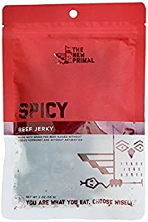 product image for The New Primal – 100% Grass-Fed Beef Jerky, Spicy, 2.0 oz, Pack of 16