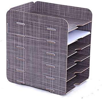 Caishuirong Magazine Sorter Regal 6 Schichten Office Data Storage Rack aus Holz Desktop-A4 Datei-Box Dokument Speicherung und Anzeige Box Magazin Holders für Büro (Color : B, Size : 26x27x32cm)