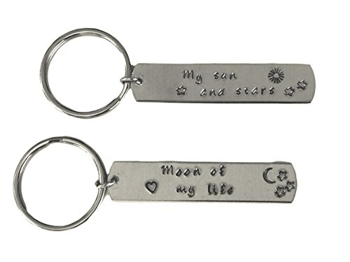 (Hand Trades My Sun and Stars and Moon of My Life Aluminum Key Chain Set)