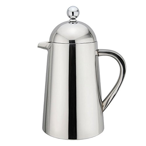 Highwin Small Stainless Steel French Press - 3 cups (4 oz each) Coffee Plunger, Press Pot, Best Tea Brewer & Maker, Quality Cafetiere - Double Walled. Unique Dual-Filter. Individual Serving (#1)