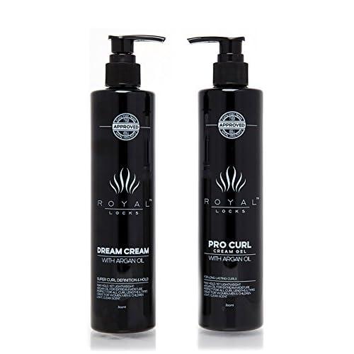 Curly Hair Products Set . Curl Cream Gel Hybrid and Dream Cream by Royal  Locks . b29f37b4d
