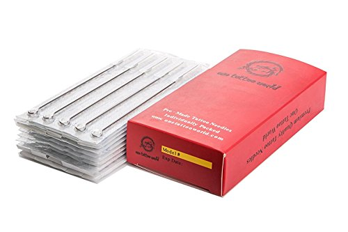 1TattooWorld 50 Pcs Stainless Steel Disposable Sterilized 9 Round Liner 9RL Tattoo Needles, ()