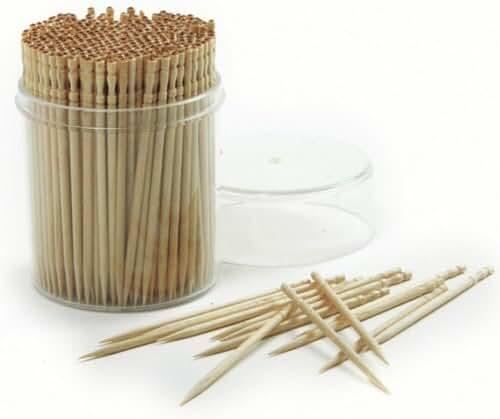 Norpro Ornate Wood Toothpicks, 360 pieces