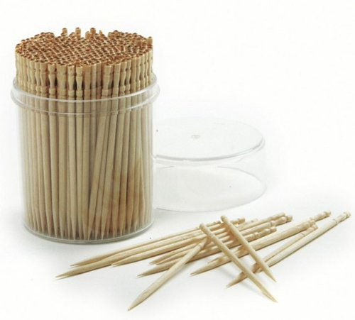 Norpro Ornate Wood Toothpicks pieces