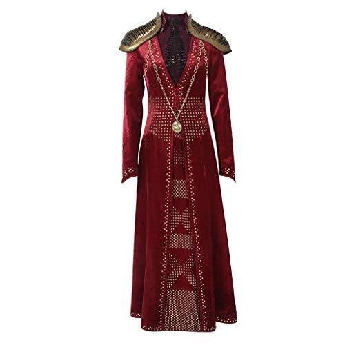 CosplayDiy Women's Suit for Game of Thrones Season IX Cersei Lannister Cosplay Costume L Red -