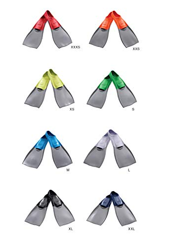 Speedo Rubber Swim Fins (Grey/Blue