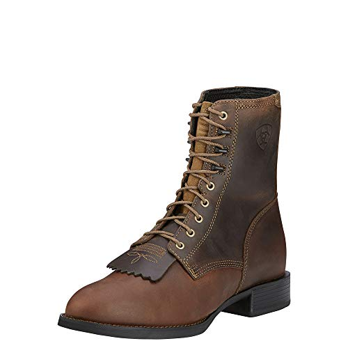 ARIAT Mens Heritage Lacer Western Boot Distressed Brown Size 14