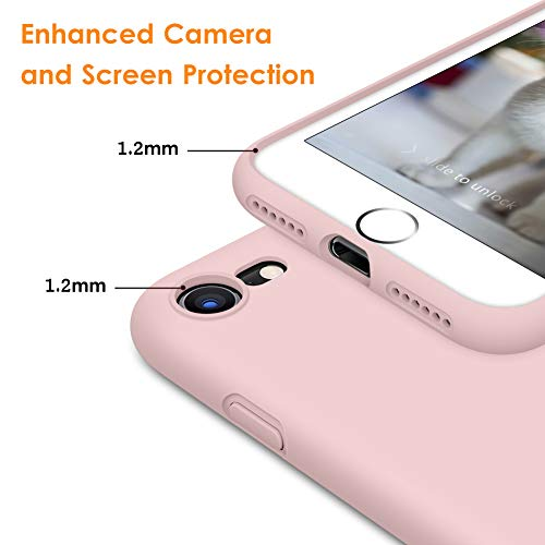 DTTO Compatible with iPhone 7 8 SE 2020 Case, Silicone Phone Case [Romance Series] Shockproof Anti-Drop Cover with…