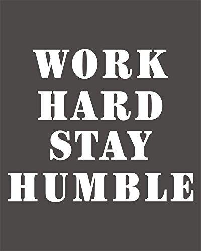Amazon Work Hard Stay Humble Office Inspirational Motivational