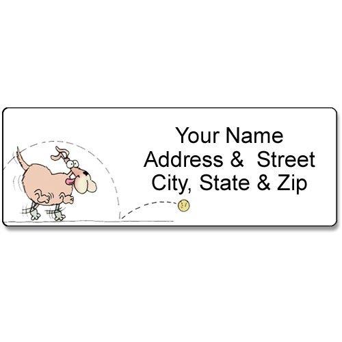 Dog Address Label - Customized Return Address Label - 90 Labels