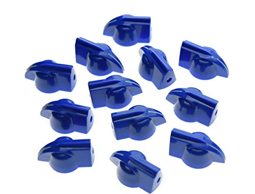Blues Vintage Amps (KAISH 12pcs Raised Vintage Guitar Amplifier Knobs Effect Pedal Chicken Head Knobs Blue)
