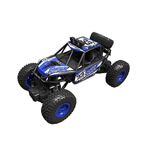 RC Off Road Cars Toys - 1:20 2.4G 2Ch 4Wd Boys Monster Truck RTR Cars - All Terrain Waterproof Toys Trucks for Kids and Adults - Birthday Christmas New Year Gifts Kids Toys (Blue)