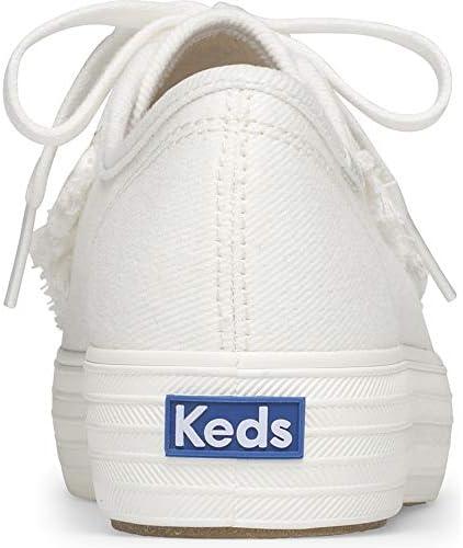 Keds Triple Kick Ruffle Women 8.5 White
