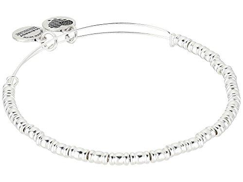(Alex and Ani Women's Rocker Bangle Bracelet Shiny Silver One Size)