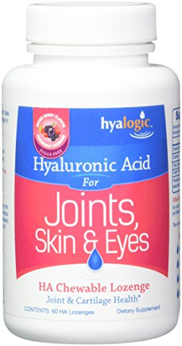 HA Chewable Lozenge For Joint & Cartilage Health - Joint Support By Hyalogic - 60 Chewable Lozenges - Mixed Berry Flavor by Hyalogic