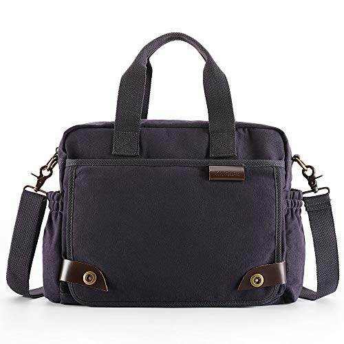 (XINCADA Messenger Bag Man Purse Canvas Crossbody Shoulder Bags Travel Satchel Laptop Bag for Men 14 Inch)