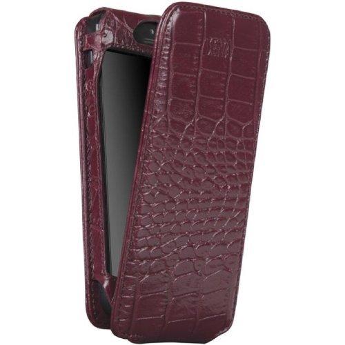 SENA Case Magnet Flipper für Apple iPhone 5 croco burgund