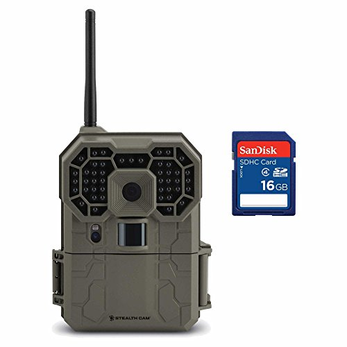 Stealth Cam GXW 12MP 1080p HD No Glo IR iOS & Android Game Camera + 16GB SD Card