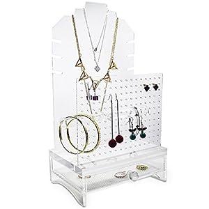Amazoncom Ikee Design Acrylic Jewelry Organizer All in One Tall