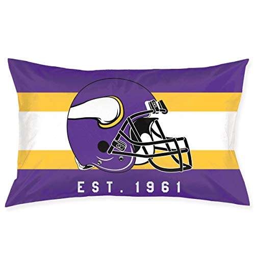 Marrytiny Custom Rectangular Pillowcase Colorful Minnesota Vikings American Football Team Bedding Pillow Covers Pillow Cases for Sofa Bedroom Bedding Car Home Decorative - 20x30 Inches