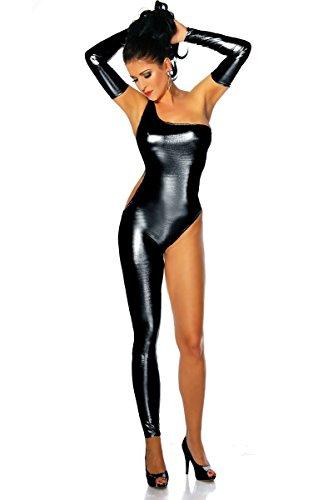 Sexy Single Leg Jumpsuits Faux Leather Bodysuit Nightclub Dancer Ladygaga Pole Dance Costume (Dance Jumpsuit Costumes)