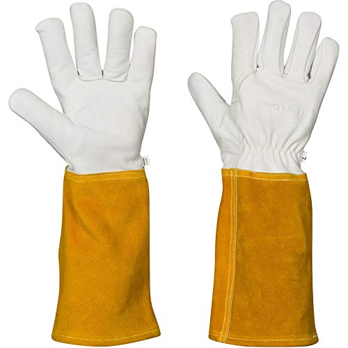 MIG TIG Welding Gloves | 16'' Soft Leather | Kevlar Stitching & Hand Lining Weld Glove (Medium) by Suse's Kinder (Image #10)