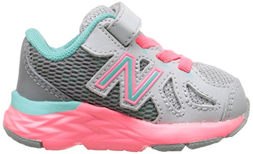New Balance kv790 V6 Zapatilla de Running infantil (Infant/Toddler) Gris/Verde