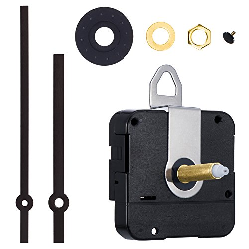 aft Quartz Clock Movement DIY Clock Repair Kit (Black) ()