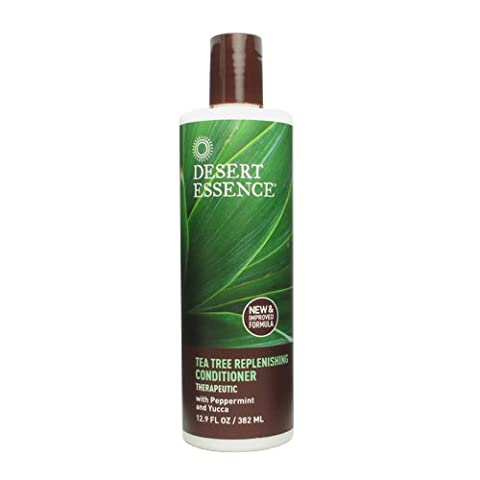 Desert Essence Daily Replenishing Tea Tree Conditioner, 12.9 -Ounces (Pack of 3) (Desert Pure Yucca)