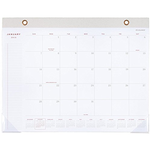 AT-A-GLANCE Monthly Desk Pad Calendar, January 2018 - December 2018, 21-3/4