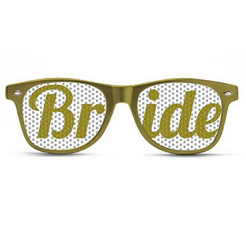 a57e38e680 Best Selling Bridal Party Glasses on Amazon! Bride Gold Sunglasses. Great  item to give to your bridal party! Custom made glasses.