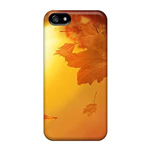 New Diy Design 3d Autumn Leaves Jpg For Iphone 5/5s Cases Comfortable For Lovers And Friends For Christmas Gifts