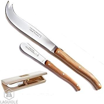 LAGUIOLE Servicio cuchillos queso y mantequilla Madera de ...