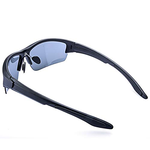 AOKNES Men's Polarized Sunglasses Semi Rimless Sports Wrap Glasses for Driving Fishing Cycling