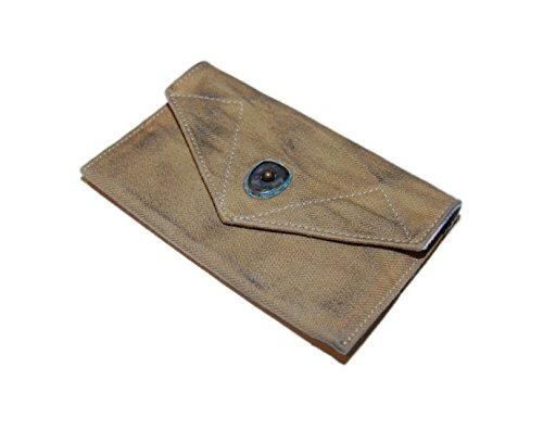 Polo Ralph Lauren RRL Mens Vintage Canvas Slim Wallet Pouch Khaki Beige Brown by Ralph Lauren Brand