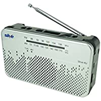Slive-4U (Silver) - Emergency Crank Radio, NOAA Weather Radio, Self-Powered Smart Phone Charger, Rechargeable Flashlight, AM/FM Radio and Siren all in one portable device for survival