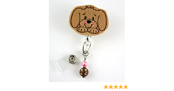 Details about  /Dog Retractable Badge Reel Student Nurse Exihibiton ID Name Card Badge Holder W1