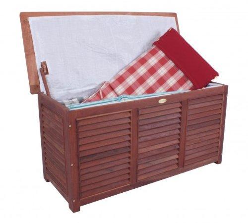 Hochwertige Auflagenbox Bangkirai FSC - Holz geölt