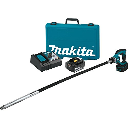 Makita XRV01T 5.0 Ah 18V LXT Lithium-Ion Cordless Concrete Vibrator Kit, 4' ()