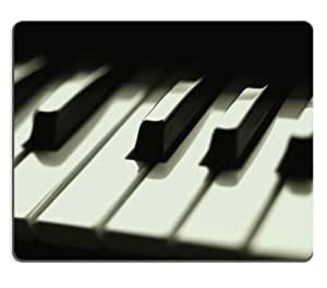 Close Up of Pianos Keys Black White Mouse Pads Customized Made to Order Support Ready 9 7/8 Inch (250mm) X 7 7/8 Inch (200mm) X 1/16 Inch (2mm) High Quality Eco Friendly Cloth with Neoprene Rubber MSD Mouse Pad Desktop Mousepad Laptop Mousepads Comfortable Computer Mouse Mat Cute Gaming Mouse_pad